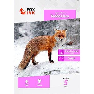 Papel Transfer para Tecido Claro A4 Fox Ink 5 Folhas