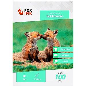 Papel para Sublimação R90 A3 110g Pacote Fox Ink 100 Folhas