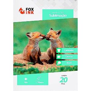 Papel para Sublimação R90 A3 110g Pacote Fox Ink  20 Folhas