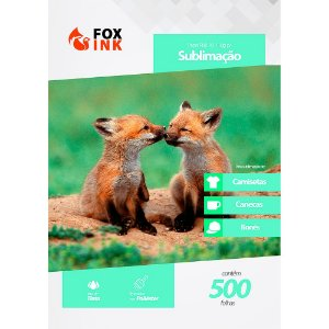 Papel para Sublimação R90 A3 110g Pacote Fox Ink 500 Folhas