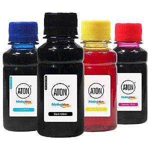 Kit 4 Tintas Epson Bulk Ink L4160 Black Pigmentada Coloridas Corante 100ml Aton