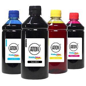 Kit 4 Tintas Epson Bulk Ink L6191 Black Pigmentada e Coloridas Corante 500ml Aton