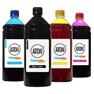 Kit 4 Tintas Epson Bulk Ink L6191 Black Pigmentada Coloridas Corante 1 Litro Aton