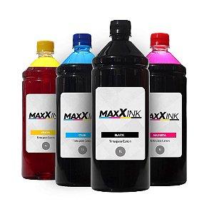 Kit 4 Tintas para Canon G1110 CMYK 1 Litro Maxx Ink