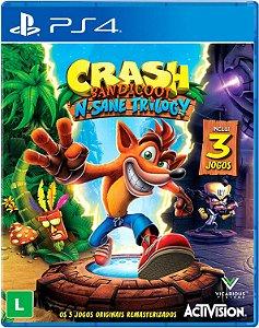 Jogo Crash Bandicoot N Sane Trilogy - PS4