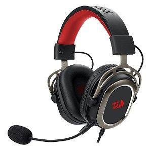 Headset Redragon Helios Preto Usb C/ Mic Removivel 7.1