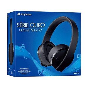 Headset Sem Fio Série Gold Black Playstation