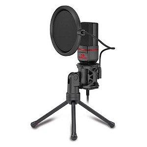 Microfone Streamer Gamer Redragon Seyfert P2 C/ Tripé Gm100