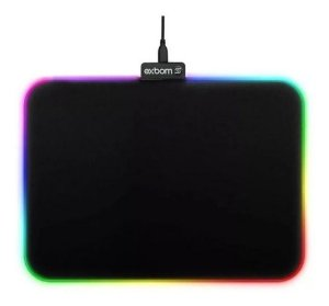 Mouse pad Gamer 35x25cm Led 7 cores - Exbom