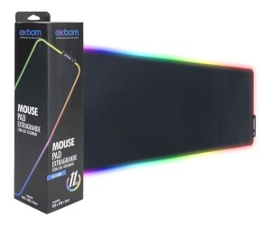 Mousepad Gamer 80X30CM Exbom com led 7 cores