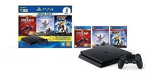 Sony Playstation 4 Slim 1TB Com 3 jogos + 3 meses de playstation Plus