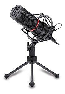 Microfone De Mesa Redragon Blazar Gm300 C/tripé E Pop Filter
