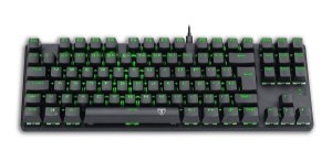 Teclado Mecanico Gamer Bora Preto Led Green Switch Azul