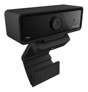 Webcam Intelbras Hd 720p Usb Preta