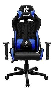 Cadeira Gamer Evolut Tanker-v2/eg905 Preto/azul - Eg-905bl