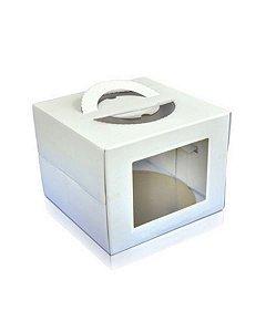 Cake Board Box 32,5x32,5x20cm Branca
