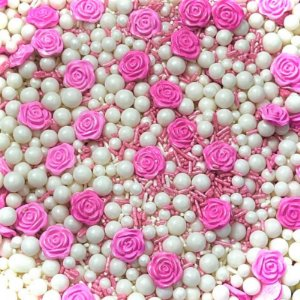 Confeito 540 Sprinkles Flor Rosa 1un