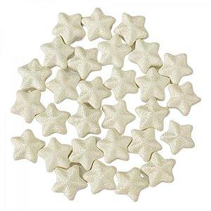 Confeito 607 Estrela 3d Branca 1un