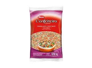 Granulado Crocante Confeiteiro Colorido 1,05kg Hara