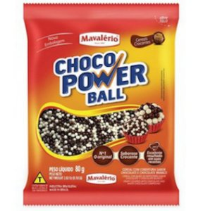 Choco Power Micro Ball 80g Leite/Branco