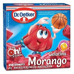 Gelatina Dr Oetker Morango 20g