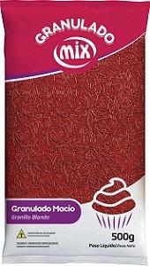 Confeito Granulado Macio 500g Vermelho