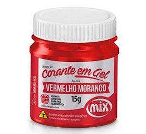 Corante Em Gel Mix 15g Vermelho Morango