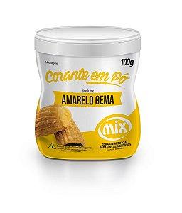 Corante Em Po Mix 100g Amarelo Gema