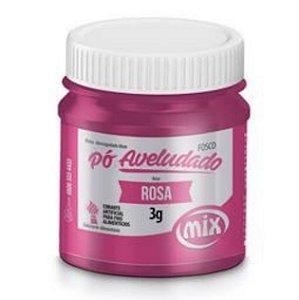 Corante Em Po Aveludado Fosco 3g Rosa