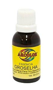 Essencia Arcolor Alcolica 30ml Groselha
