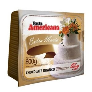 Pasta Americana Arcolor 800gr Chocolate Branco