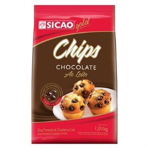 Chocolate Sicao Gold Chips Forneavel Ao Leite 1,01