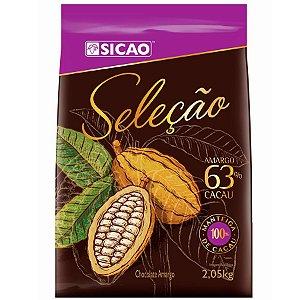 Chocolate Sicao Selecao Gotas De Amargo 63% 2,05