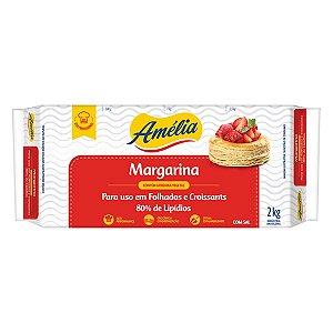Margarina Folhados 80% 2kg Amelia