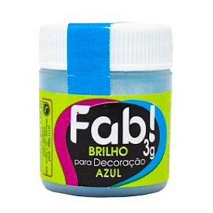 Corante Brilho Para Decoracao Fab 3g Azul