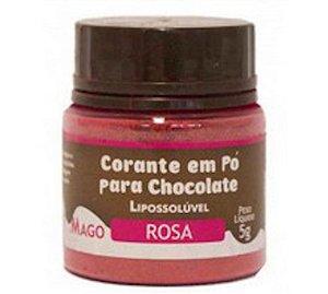 Corante Lipossoluvel Po Mago 5g Rosa