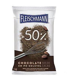 Chocolate Em Po 50% 1kg Fleischmann
