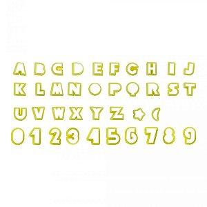 Cortador Letras E Numeros 2cm Com 38un