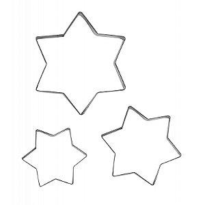 Cortador Para Confeiteiro (Inox) Estrela M2 3 Pcas