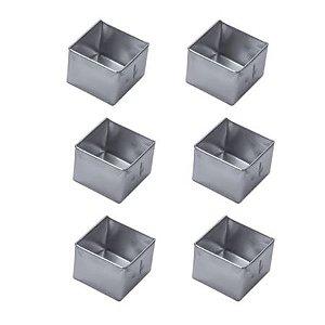 Forminha Pao Mel Quadrada Gr (Alum) 6x2,4
