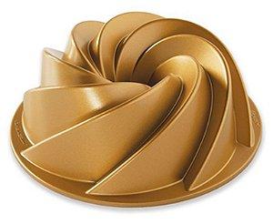 Forma Para Bolo (Alum) 22x7, Gold Heritage