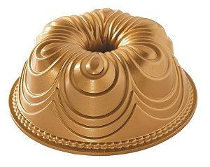 Forma Para Bolo (Alum) 24x9 Gold Chiffon