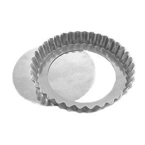 Forma Torta Maca Crespa Fundo Falso (Alum) 15x3c