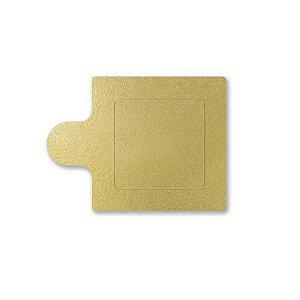 Base Para Doce Quadrada 06cm Ouro 20un