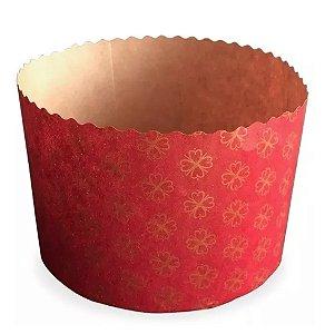 Forma Panetone 500g 134x95 Vermelho Com 10