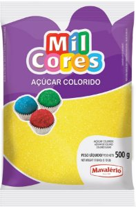 Acucar Colorido 500g Amarelo Mil Cores