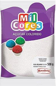 Acucar Colorido 500g Branco Mil Cores