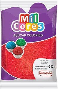 Acucar Colorido 500g Vermelho Mil Cores