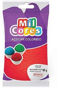 Acucar Colorido 80g Vermelho Mil Cores