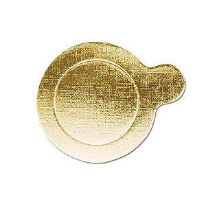 Base Para Doce Redonda 8cm Ouro 20un